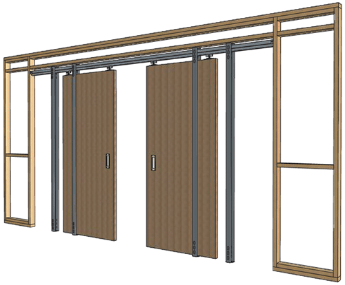 How do pocket doors work design build pros for Double sliding doors