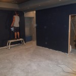 Basement Remodel in Bridgewater NJ In Progress 7-15-15 (12)