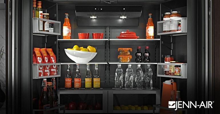 Jenn air refrigerator with obsidian black interior for Obsidian interior refrigerator