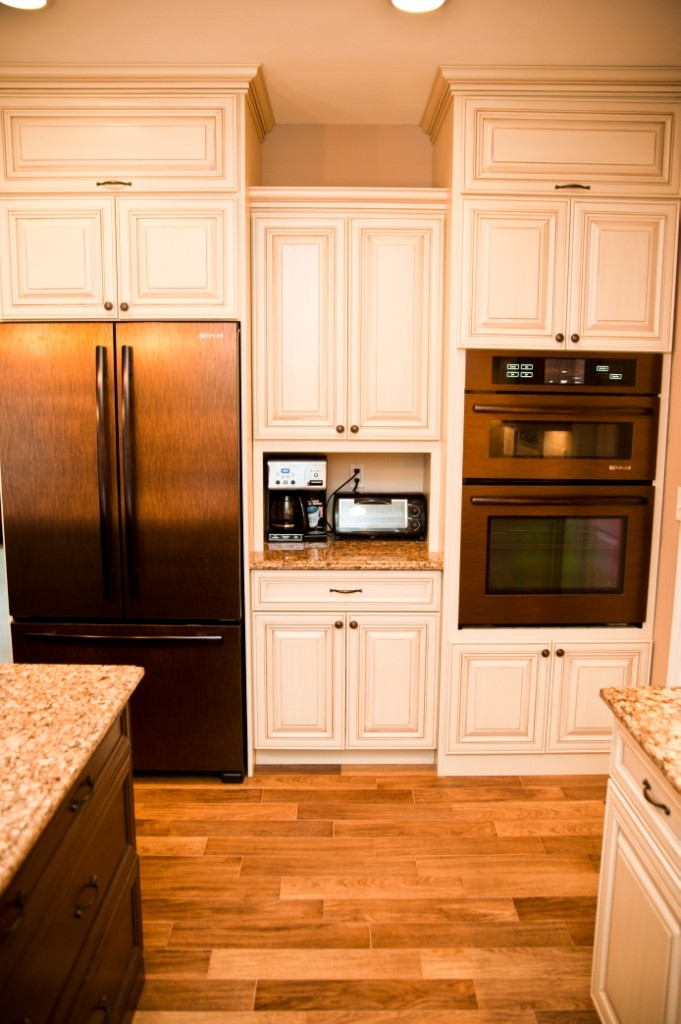 Slate finish is an alternative to stainless steel for Designer kitchen appliances
