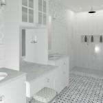 Entrance to the Master Bathroom CAD