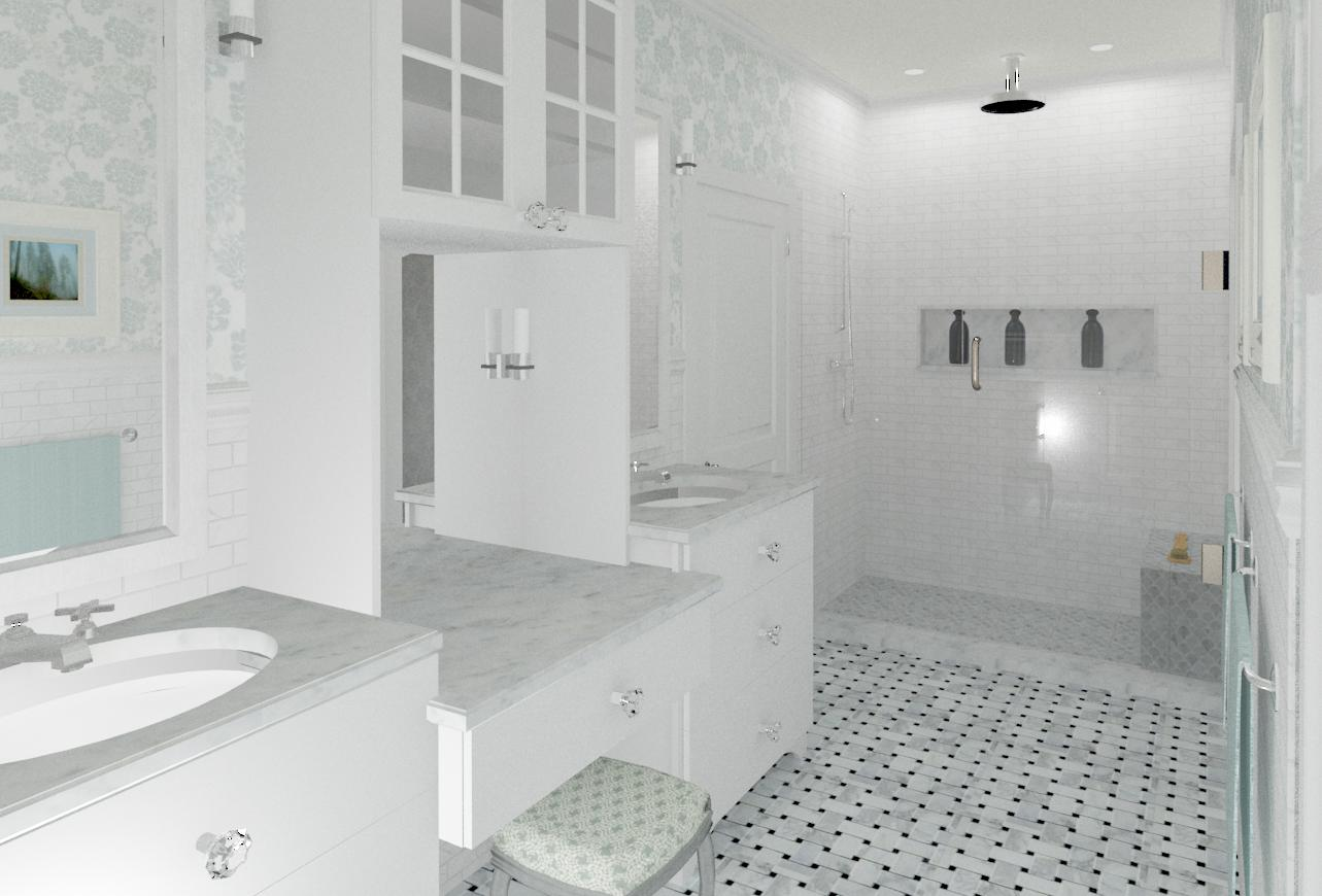 Master and Hall Bathroom Designs in Warren, NJ - Design Build Planners