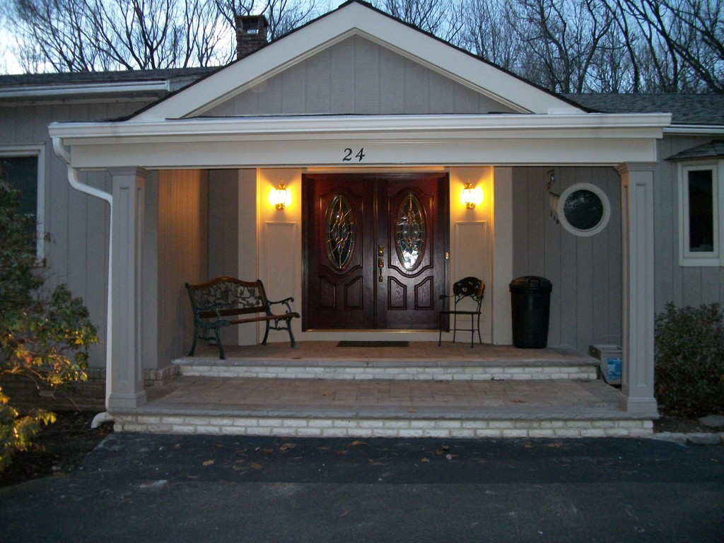 front entry portico in scotch plains nj. Black Bedroom Furniture Sets. Home Design Ideas