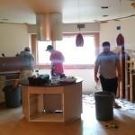 Kitchen Remodel and Reconfiguration in Warren, NJ 5-28-15 In Progress (3)