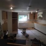 Kitchen Remodel and Reconfiguration in Warren NJ In Progress 8-6-2015 (9)