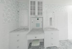 Vanity in the Master Bathroom
