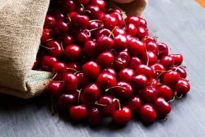 Cherries from the organic Gurlz Gardens