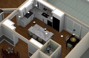 Dollhouse Overview of a Kitchen PLUS in Warren NJ (1)-Design Build Pros
