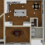 Dollhouse Overview of a Kitchen PLUS in Warren NJ (2)-Design Build Planners