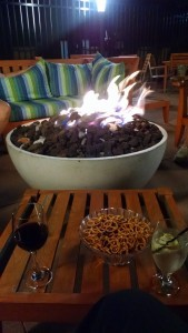 Gas fire pit on patio - Design Build Planners