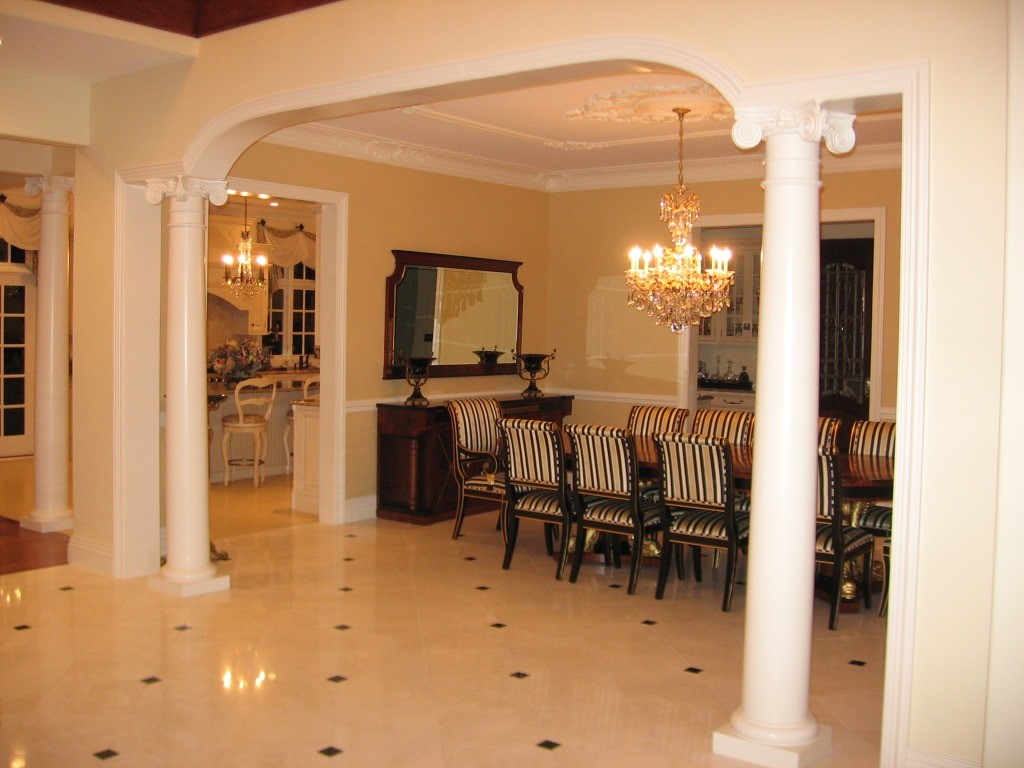 Home interior decorative arches design build pros for Home interior images