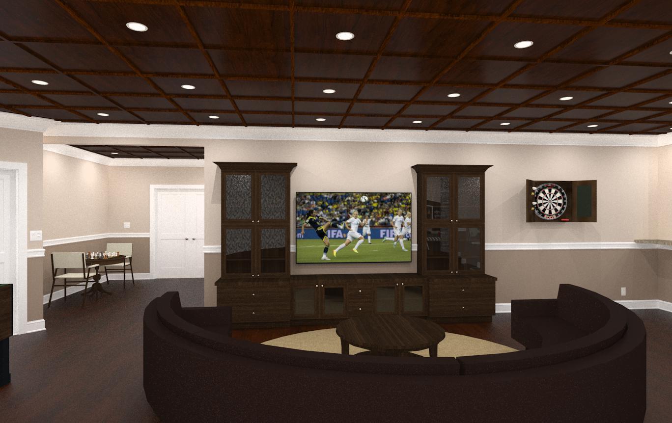 Luxury Basement In Warren Nj Design Build Planners