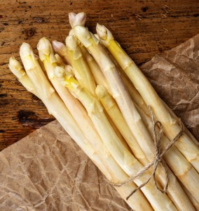 white asparagus from Organic Gurlz Gardens Fort Wayne Indiana