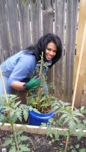 Becca of Organic Gurlz Gardens Fort Wayne Indiana