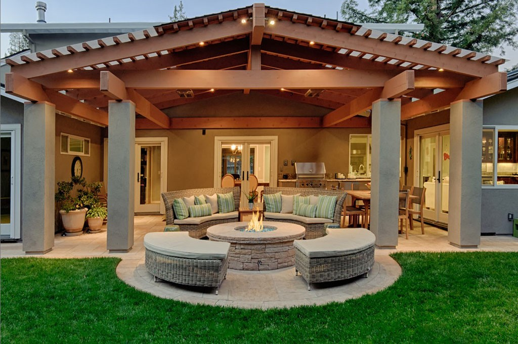 Outdoor Living Space Delectable Outdoor Living Space  Design Build Pros Design Ideas