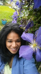 Becca working in Organic Gurlz Gardens Fort Wayne Indiana