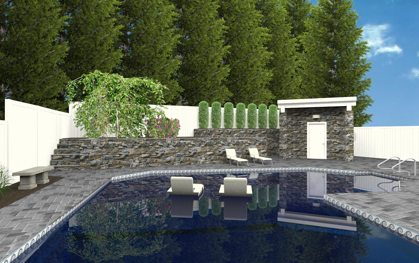 pool house and bathroom in new jersey cad of a poolhouse 2 design build pros