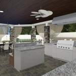 Computer Aided Design of an Outdoor Kitchen Remodel (2)-Design Build Planners