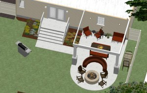 Dollhouse Overview Outdoor Living Space in Union County NJ CAD (1)-Design Build Planners