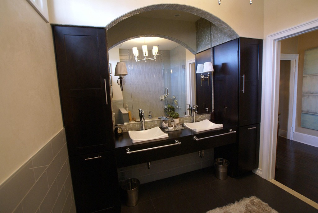 modern bathroom remodel in monmouth county nj