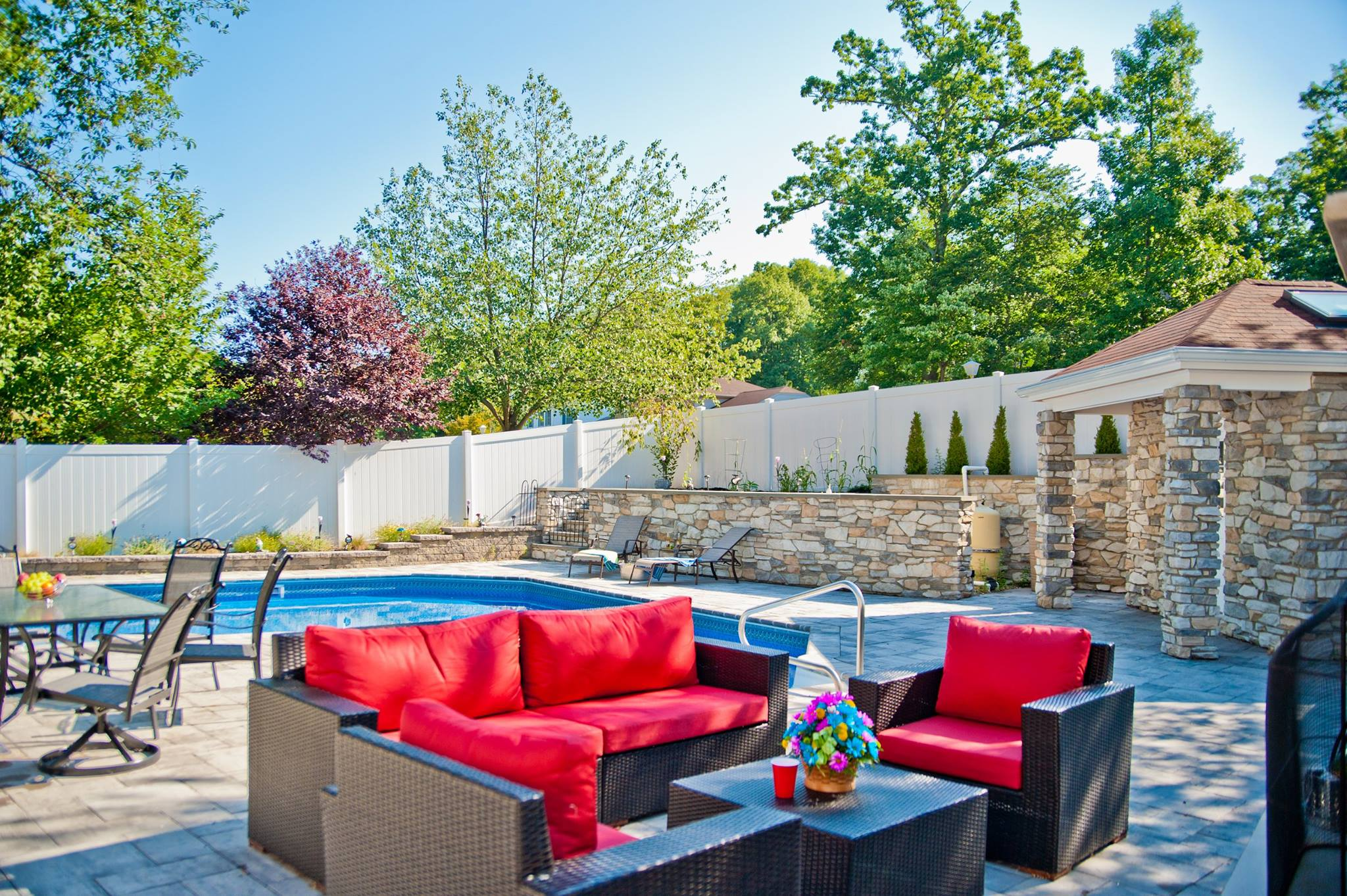 creating a backyard oasis in suburban new jersey