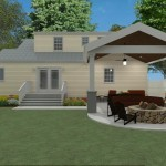 Outdoor Living Space in Union County NJ CAD (1)-Design Build Planners