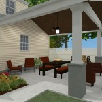 Outdoor Living Space in Union County NJ CAD (2)-Design Build Planners