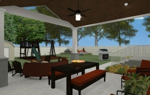 Outdoor Living Space in Union County NJ CAD (4)-Design Build Pros