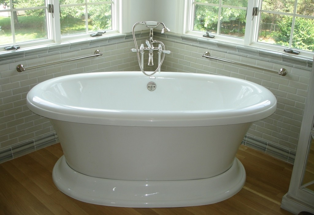 Refinish bathtub or install bath liner design build for Tub liner