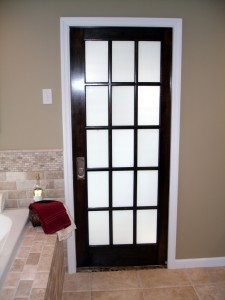 smoked glass passage door for remodeling - Design Build Planners (1)