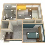 Dollhouse Overview of Lower Level Plan 1 (1)-Design Build Planners