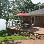 steb raised deck and pebble path