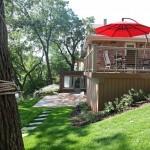 steb raised deck toward patio