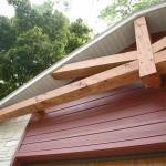 steb timber truss on garage