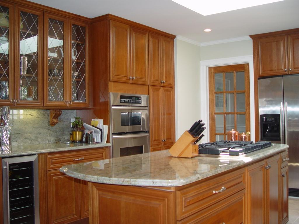 kitchen design and build kitchen remodel in monmouth county with cherry cabinets 501
