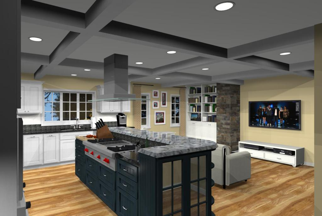 open kitchen family room floor plans kitchen addition with open floor plan in monmouth county 9005